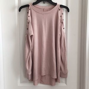Never worn** AE open shoulder blush sweatshirt